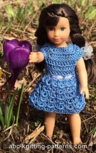 Basic Crochet Sundress for Mini American Girl Doll by ABC Knitting Patterns