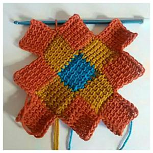 Around the World Entrelac by Nicole Cormier of Tunisian Crochet Chick