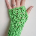 Clover Puff Fingerless Gloves by Dorianna Rivelli of The Lavender Chair