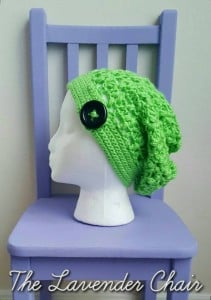 Clover Puff Slouchy Beanie by Dorianna Rivelli of The Lavender Chair