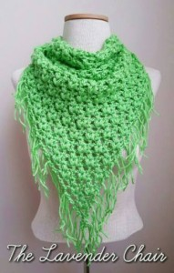 Clover Puff Triangle Scarf by Dorianna Rivelli of The Lavender Chair