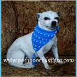 Beaded Bandanna for Dogs by Sara Sach of Posh Pooch Designs