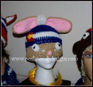 Colorado Bunny Beanie Hat by Sara Sach of Posh Pooch Designs