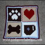 Pixel Graph Dog Blanket by Sara Sach of Posh Pooch Designs