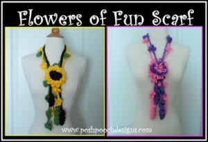 Flowers Of Fun Summer Scarf by Sara Sach of Posh Pooch Designs