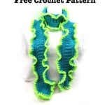Reef Ruffle Scarf by Goddess Crochet
