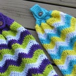 Chevron Kitchen Towel by Crochet Dreamz