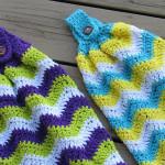 Chevron Kitchen Towel by Crochet Dreamz