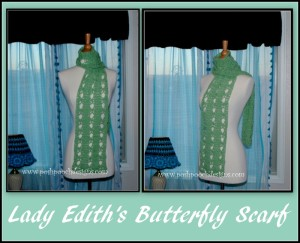 Lady Edith's Butterfly scarf by Sara Sach of Posh Pooch Designs