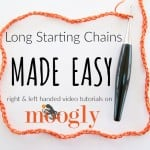 Long Starting Chains Made Easy by Moogly
