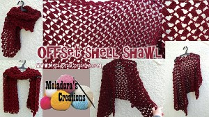 Offset Shell Shawl by Meladora's Creations