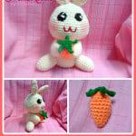 Happy Bunny Amigurumi by Maz Kwok's Designs