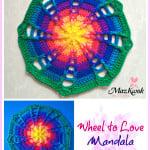 Wheel to Love Mandala by Maz Kwok's Designs