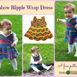 Rainbow Ripple Wrap Dress by Stitches 'N' Scraps