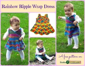 Rainbow Ripple Wrap Dress by Stitches 'N' Scraps