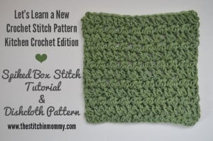 Spiked Box Stitch Tutorial and Dishcloth by The Stitchin' Mommy