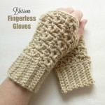 Blossom Fingerless Gloves by Rhelena of CrochetN'Crafts