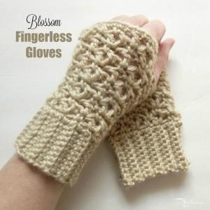 Blossom Fingerless Gloves by Rhelena of CrochetN'Crafts