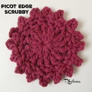Picot Edge Scrubby by Rhelena of CrochetN'Crafts