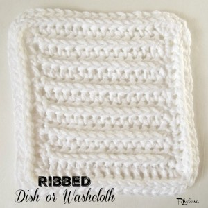 Ribbed Dish or Washcloth by Rhelena of CrochetN'Crafts