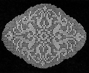 Occasional Filet Doily by Free Vintage Crochet