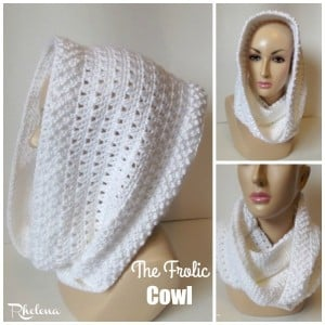 The Frolic Cowl by Rhelena of CrochetN'Crafts