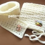 Child's Hat and Scarf by Patterns For Crochet