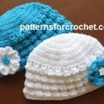 Newborn Flowered Beanie by Patterns For Crochet