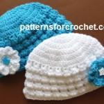 Newborn Flowered Beanie by Patterns For Crochet