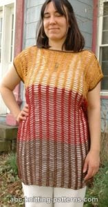 Chain and Shell Summer Top by ABC Knitting Patterns