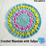 Crochet Mandala with Tulips by Erangi Udeshika of Crochet For You