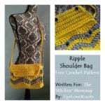 Ripple Shoulder Bag by The Stitchin' Mommy