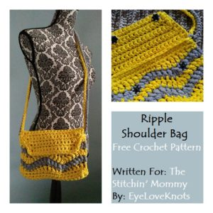 Ripple Shoulder Bag by EyeLoveKnots for The Stitchin' Mommy