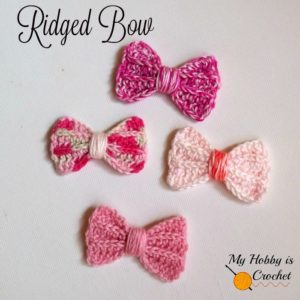 Faux Knit Ridged Bow by My Hobby is Crochet