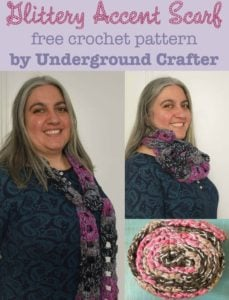 Glittery Accent Scarf by Marie Segares/Underground Crafter