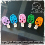 Ice Cream Popsicles Applique by Damn it Janet, Let's Crochet