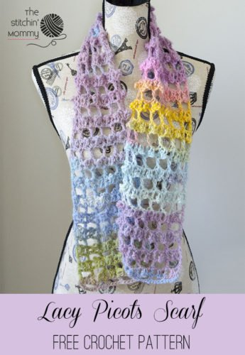 Free Crochet Patterns Directory : Lacy Picots Scarf by The Stitchin Mommy - Crochet Pattern ...