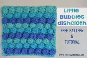 Little Bubbles Dishcloth by The Stitchin' Mommy