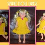 Simple Doll Dress 18 inch Dolls by Sara Sach of Posh Pooch Designs