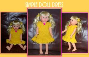 Simple Doll Dress 18 inch Dolls by Sara Sach of Posh Pooch Designs