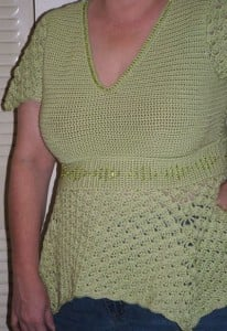 Sonrisa Empire Waist Top by Kim Guzman of CrochetKim