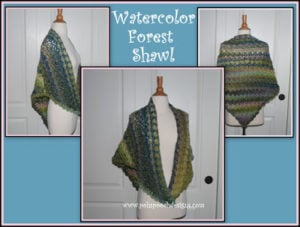 Watercolor Forest Shawl by Sara Sach of Posh Pooch Designs