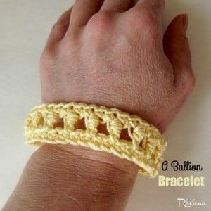 A Bullion Bracelet by Rhelena of CrochetN'Crafts