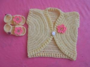 Sandal for Babies /New Summer Vest by aamragul of Crochet/Crosia Home