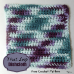 Front Loop Dishcloth by Rhelena of CrochetN'Crafts