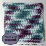 Front Loop Dishcloth by Rhelena of CrochetN'Crafts
