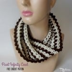 Picot Infinity Cowl by Rhelena of CrochetN'Crafts