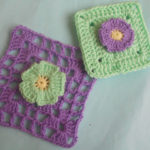 Afghan Daisy Flower Granny Square by aamragul of Crochet/Crosia Home
