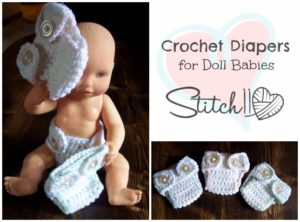 Diaper for Doll Babies by Stitch11