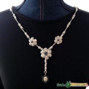Dew Drop Necklace by Stitches 'N' Scraps